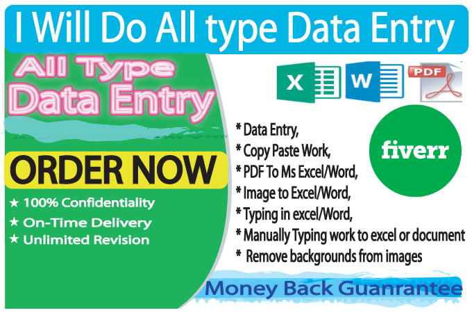 I will do all of work related data entry operator with 100 accuracy. And my typing speed innovative