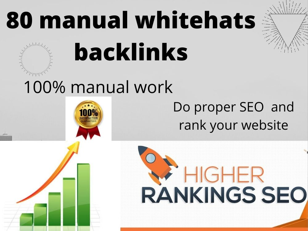 80 Manual Whitehat Backlinks For Google Ranking Web2,  profile backlink,  directory submission, image