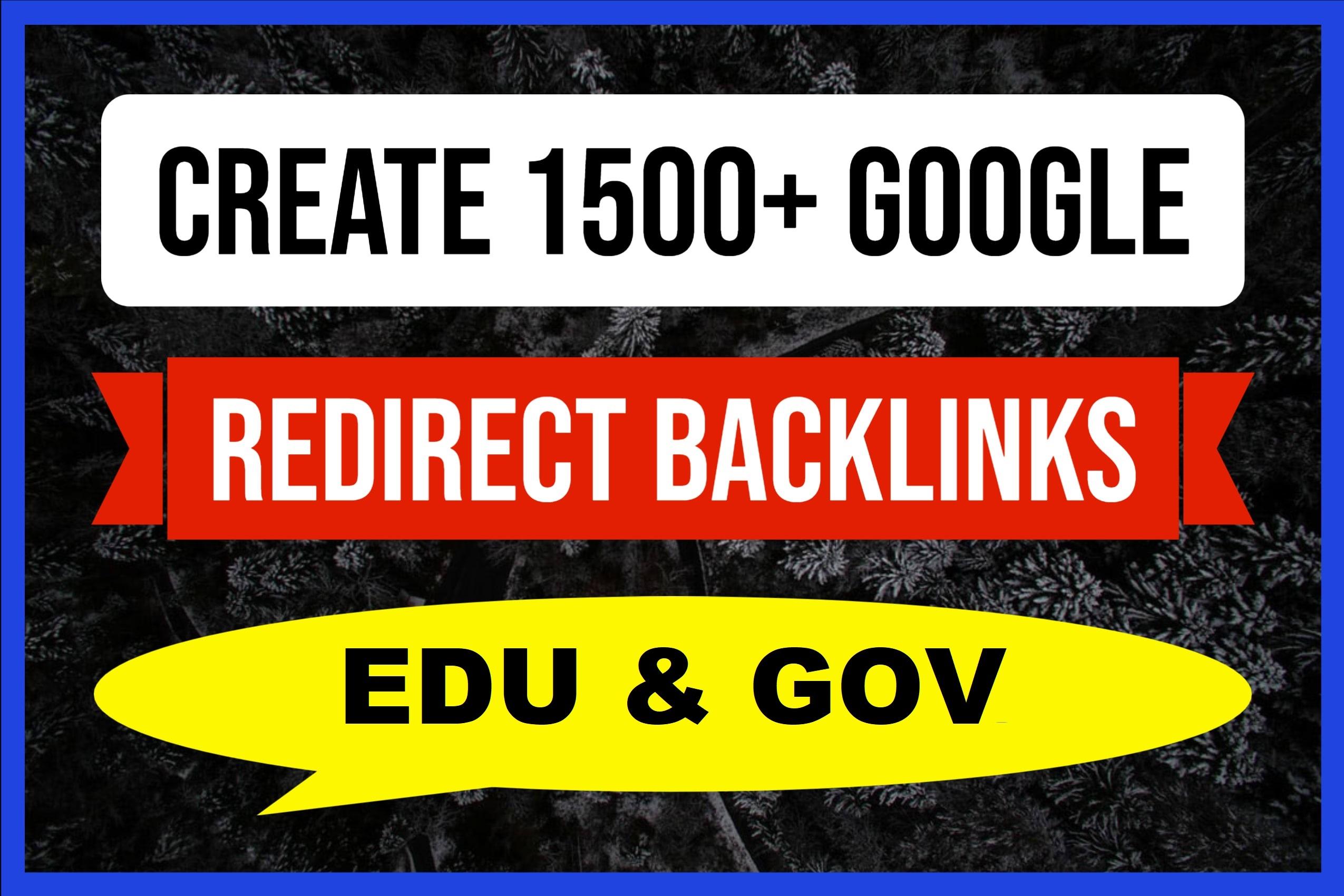 We Create 1500 Edu and Gov Redirect Backlinks