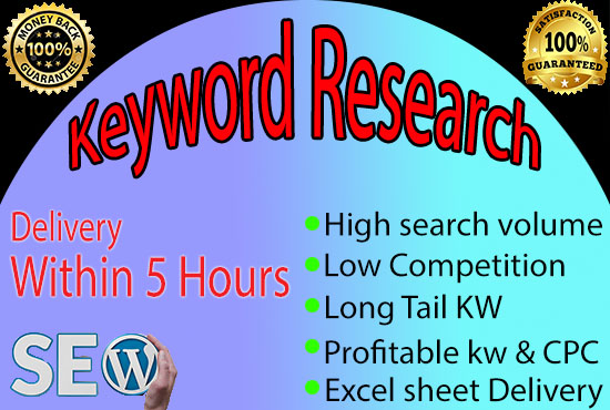 I will Do profitable keyword research for seo which actually rank