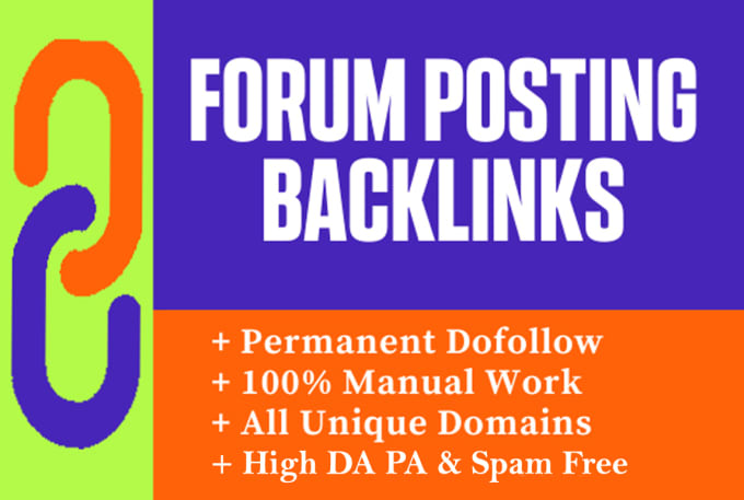 I will do 35 high quality forum posting backlinks