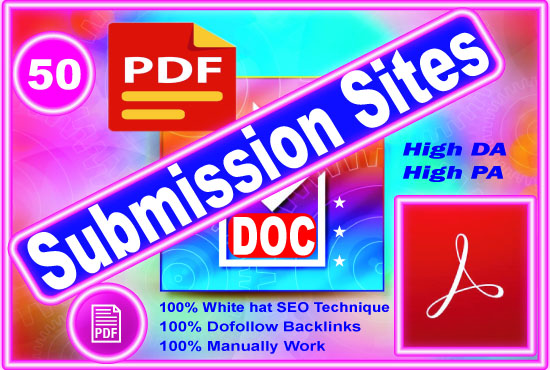 Best 40 PDF submission permanent backlinks to sharing sites.