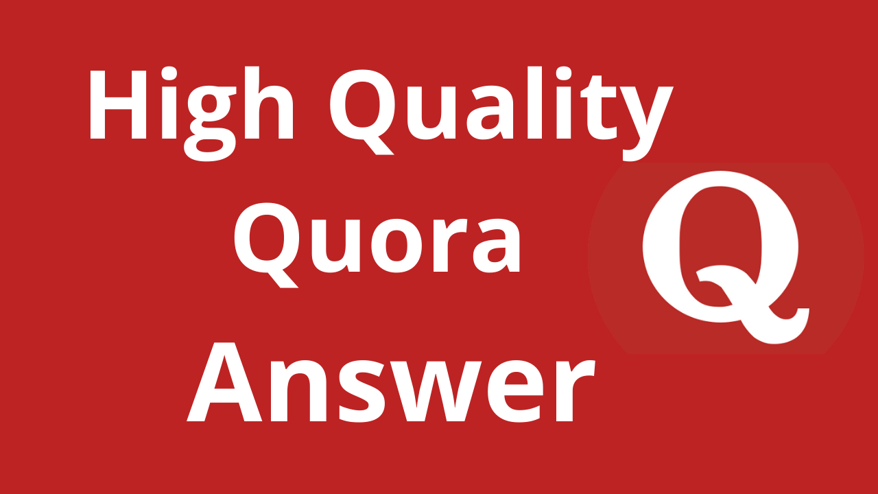 Promote your website 10 High Quality Quora Answers