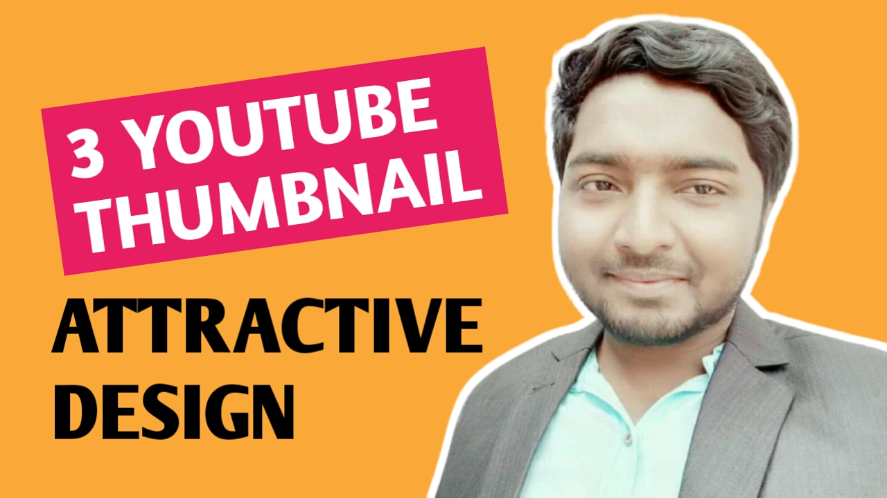 I will design 3 youtube thumbnail in 24 hours