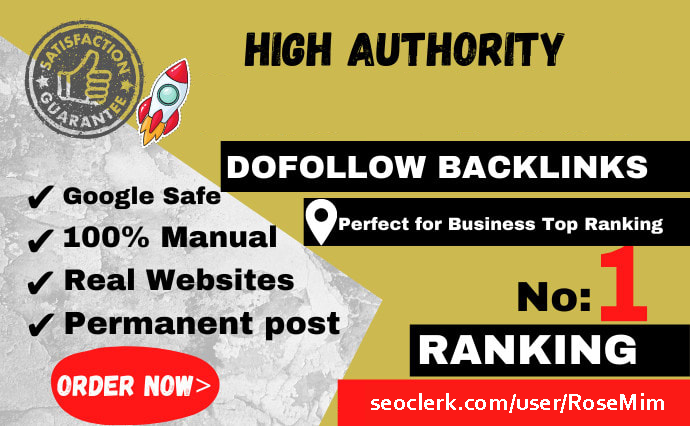 boost your ranking by 150 manual high authority SEO backlinks
