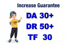 I will increase DA30+ DR50 and TF30+ domain site backlink