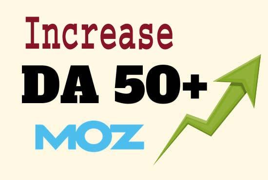 Domain authority of your site da 50 plus.