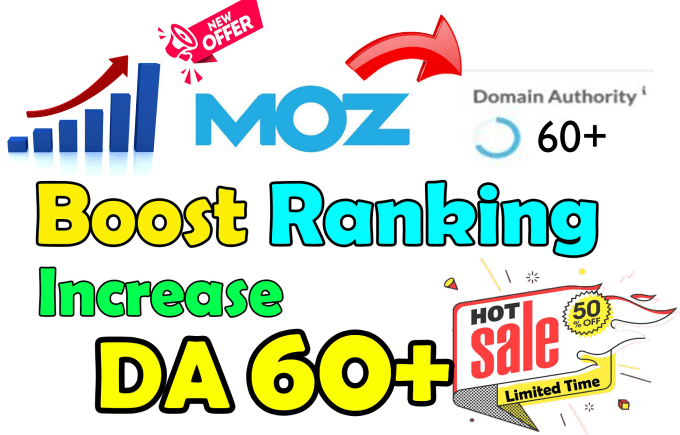 I will increase domain authority of your site da 60 plus in 10 days