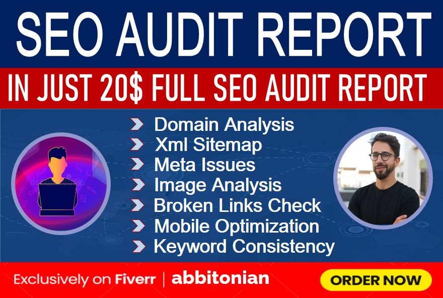 I will provide expert professional full website SEO audit report and website analysis