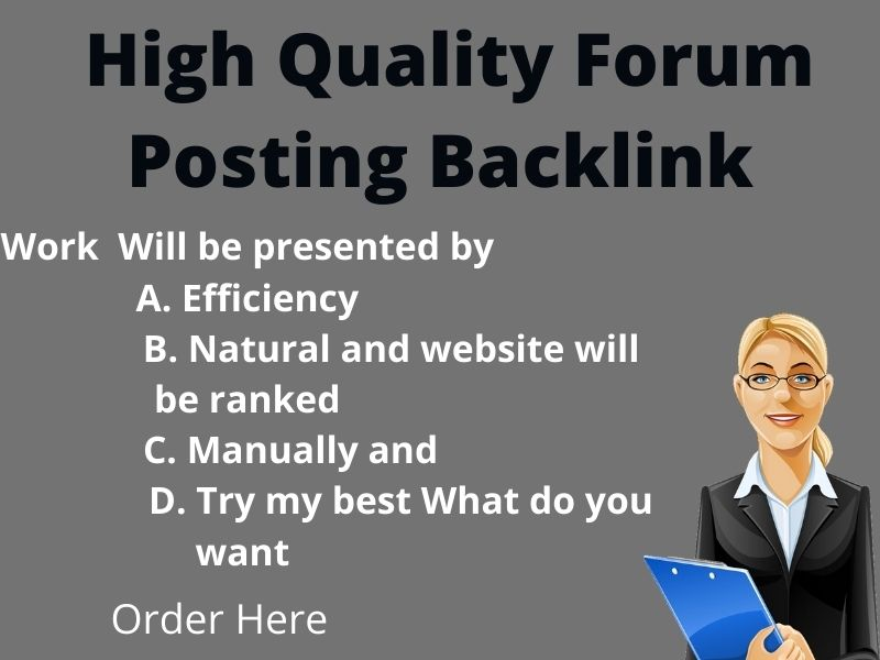 I will provide 30 high quality forum posting back links
