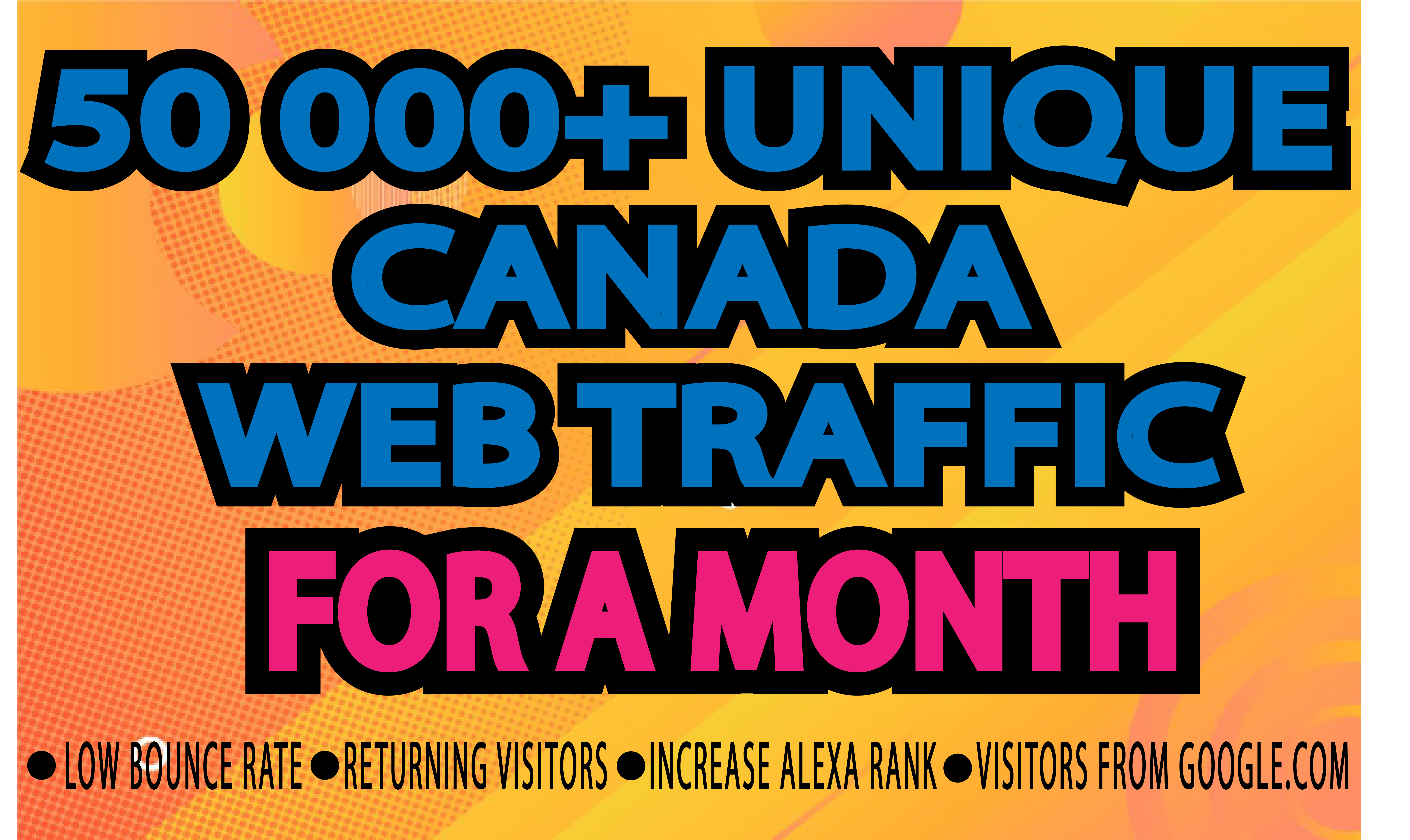 Drive Canada Targeted Web Traffic For a Month From Google