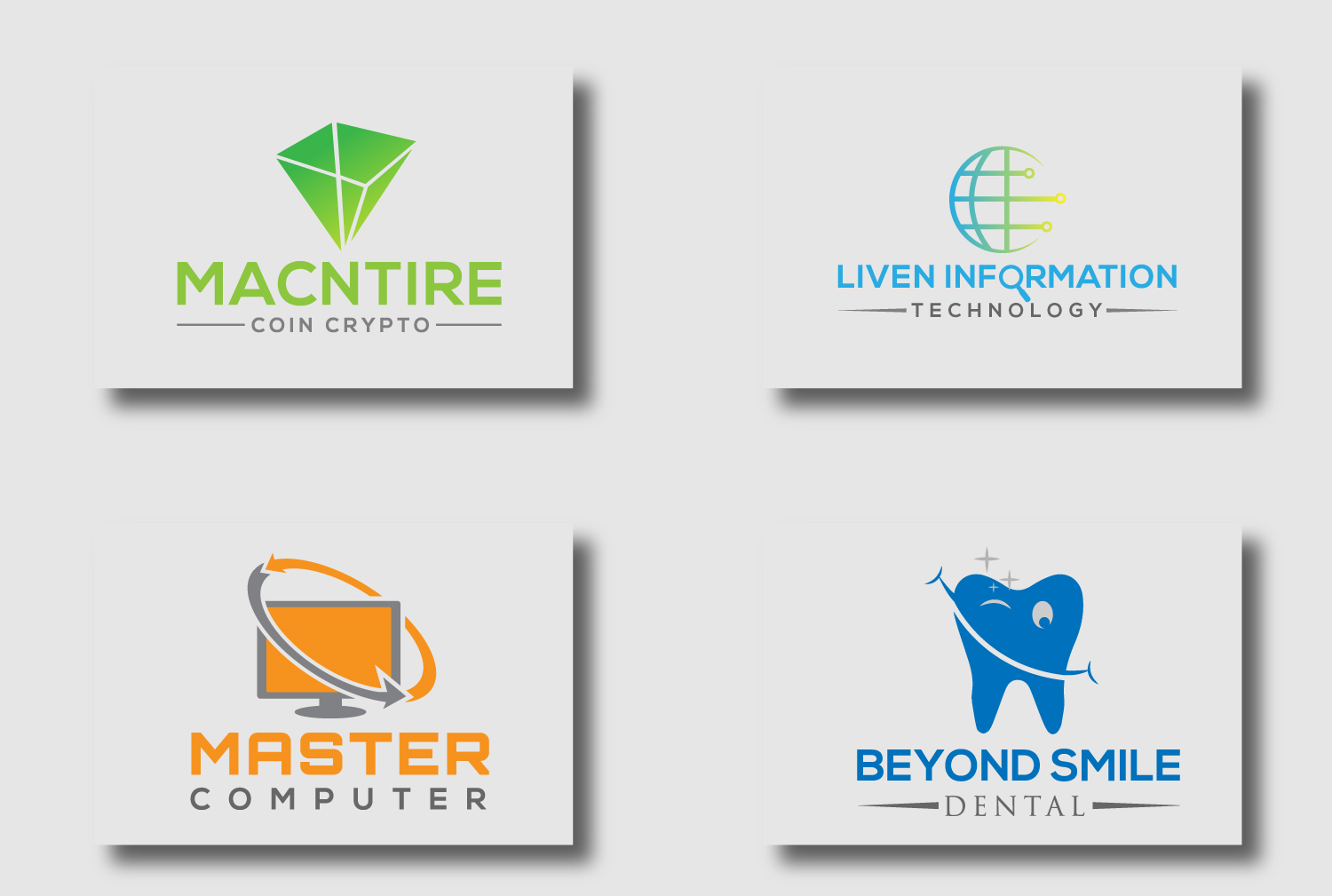 I will do flat minimalist business logo design for your brand within 24 hours