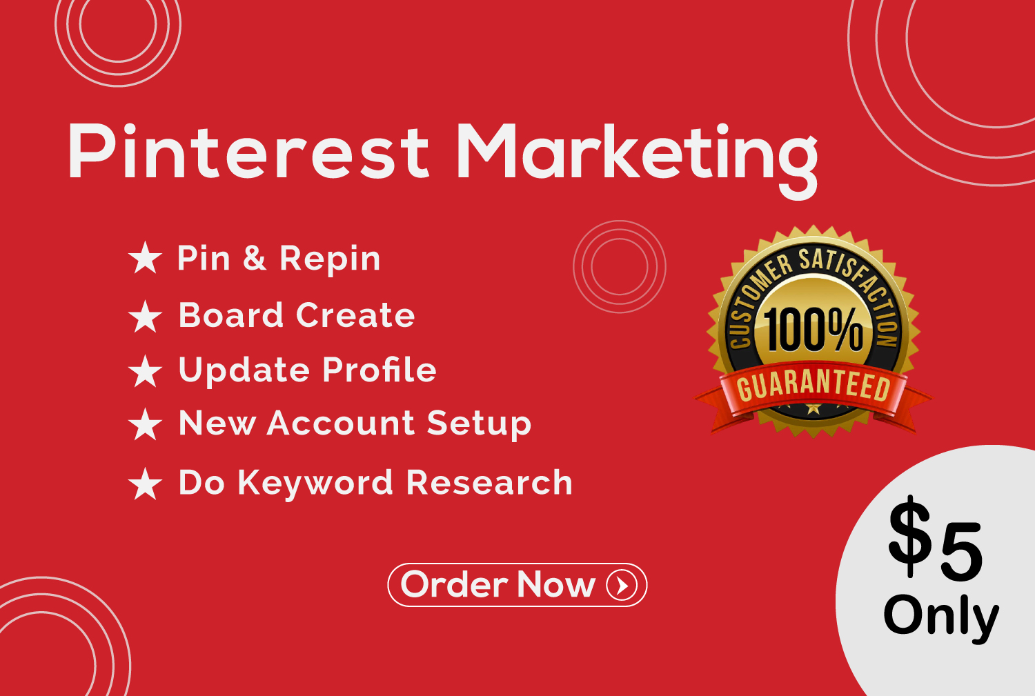 I will do 5 board and 50 pins your Pinterest marketing manager