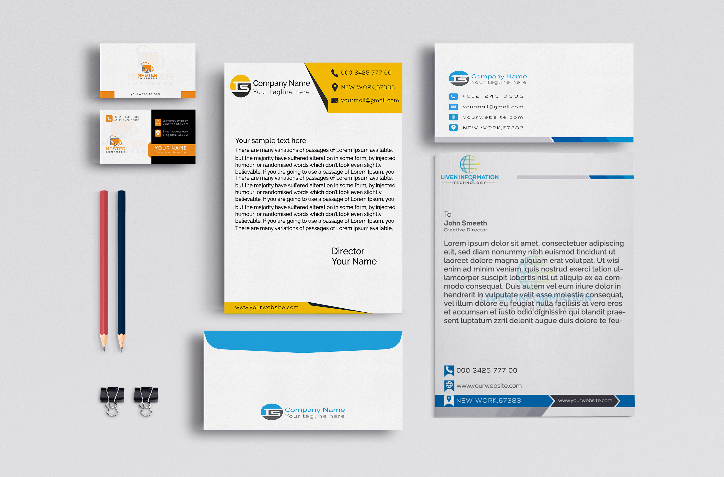 I will design Professional Business card,  Letterhead and all Stationery Items