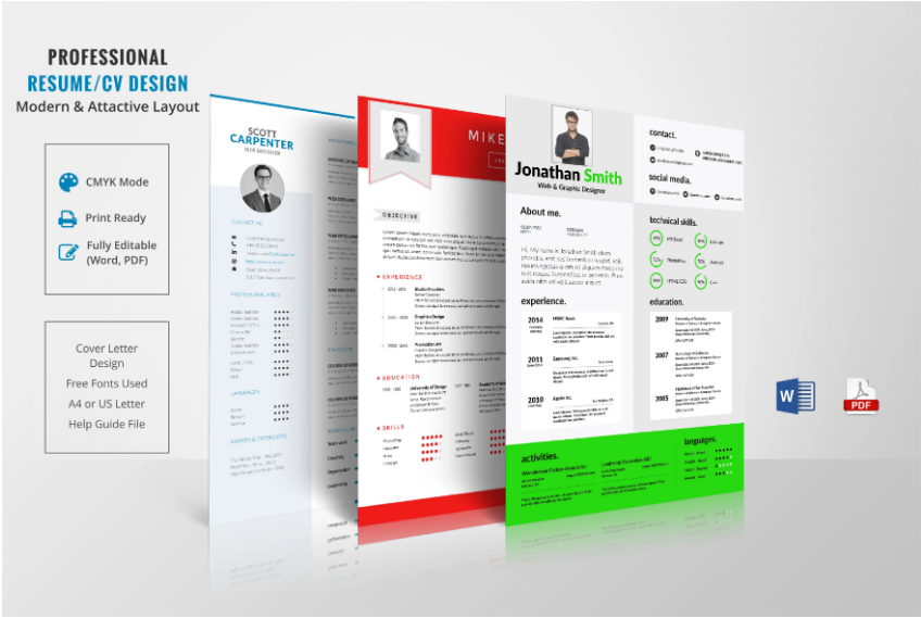 I will perform professional resume design and CV design