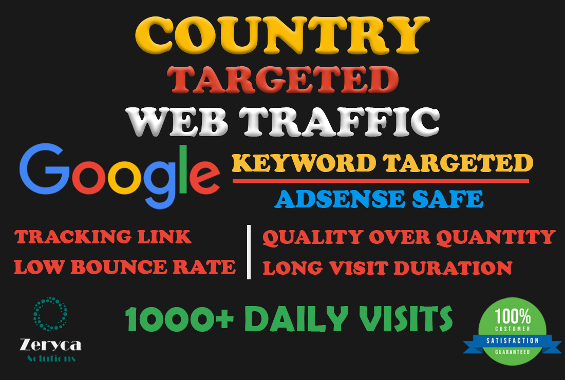 Country Base Google Keyword Targeted 3Min+ Visit Duration For 30 Days