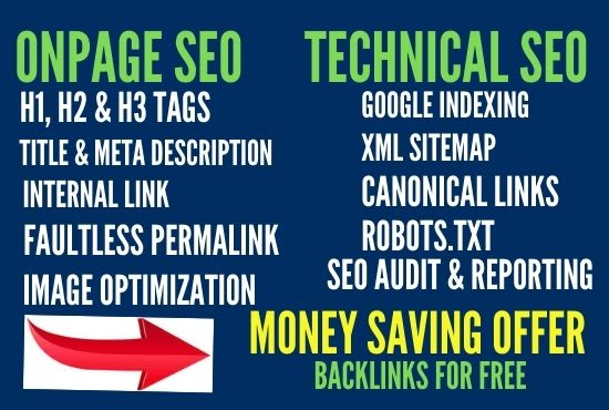 I will do onpage SEO,  content writing,  and technical optimization