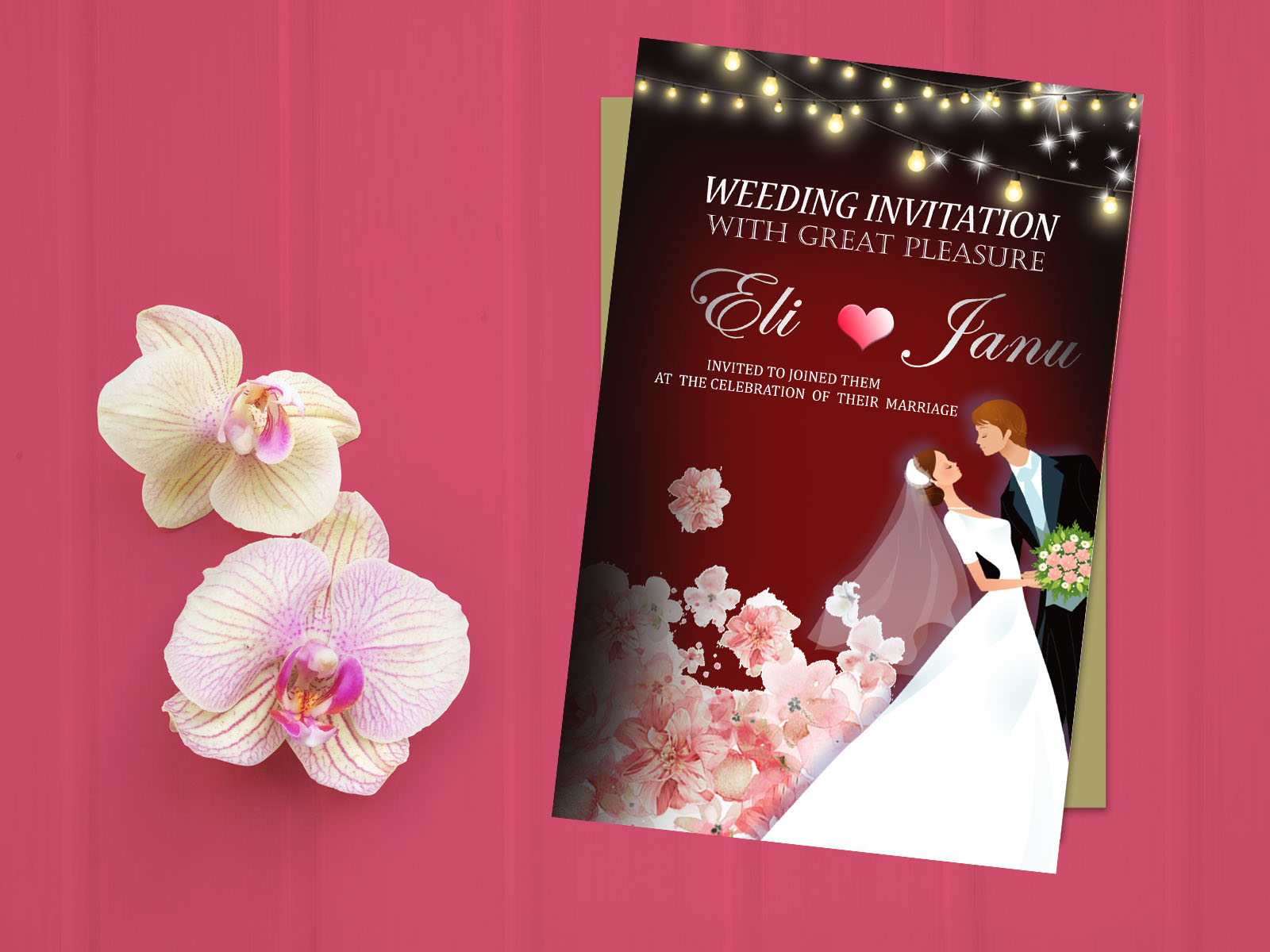 I will design invitation card for any event