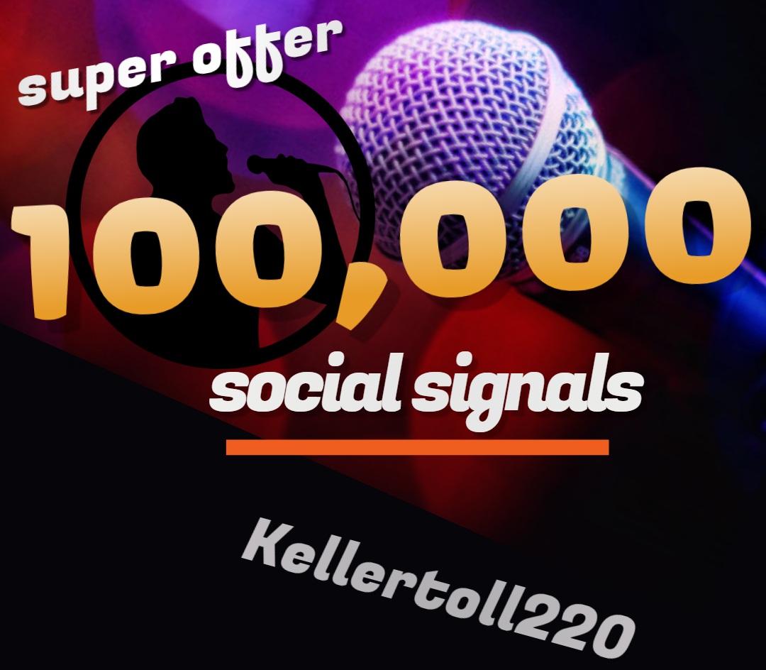 100,000 Web Share Social Signals PR 10 Boost SEO Ranking Rocket
