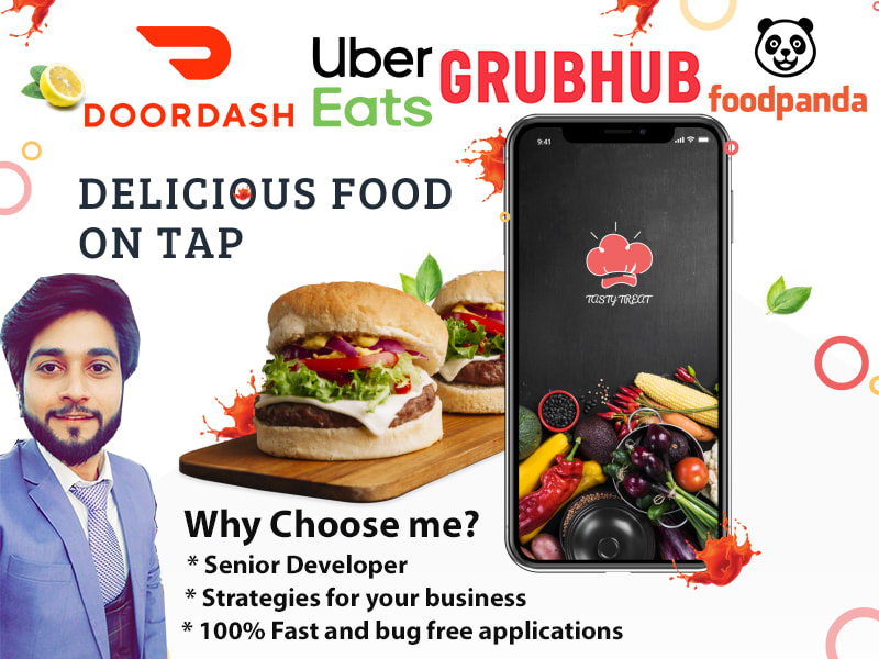 I will develop a food delivery app like uber eats, grubhub, grocery app, ordering app or website