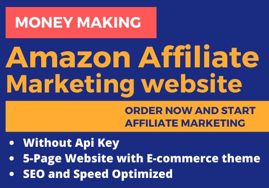 I Will Create Affiliate Marketing Website