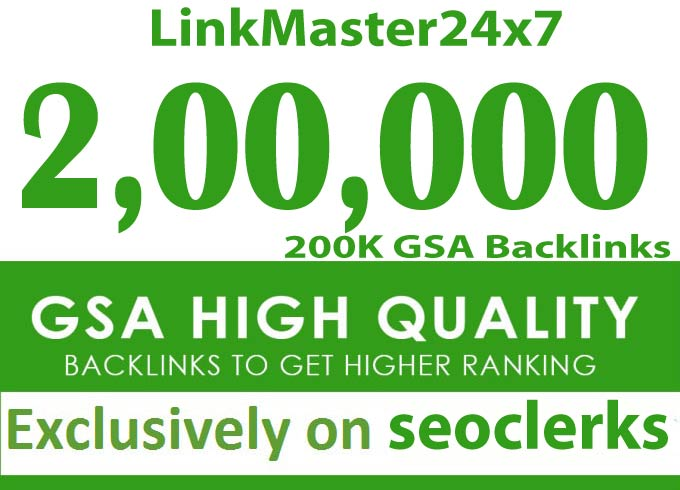 skyrocket Your Site Ranking with 200000 GSA ser seo Backlinks