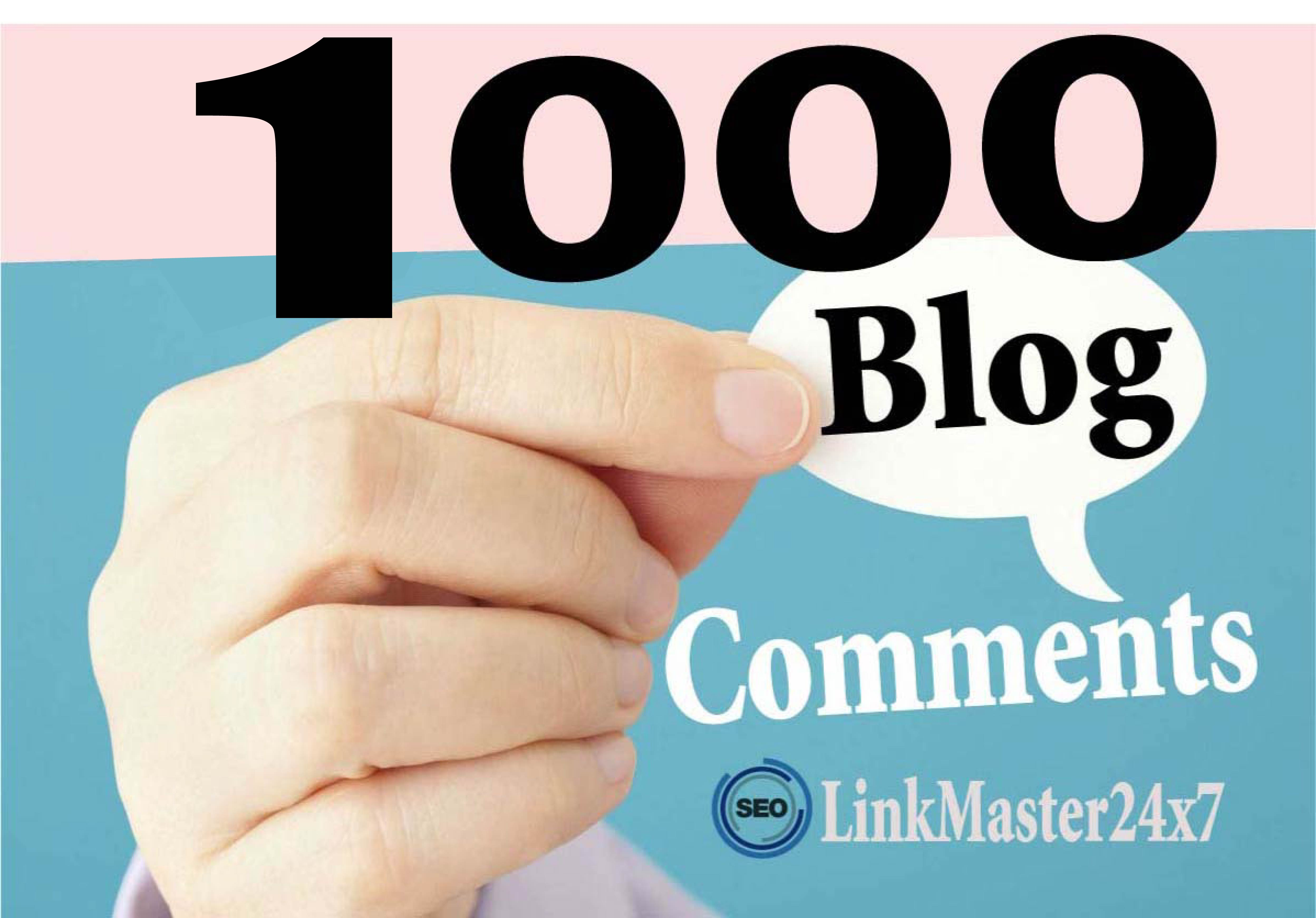 1,000 SEO Blog Comment Backlinks to Rank Your Website And GSA Blast