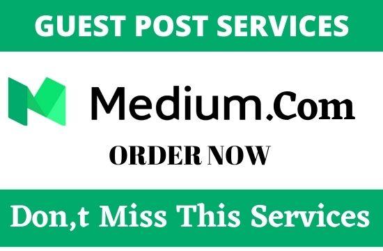 DA96+ write and publish guest post on Medium. com