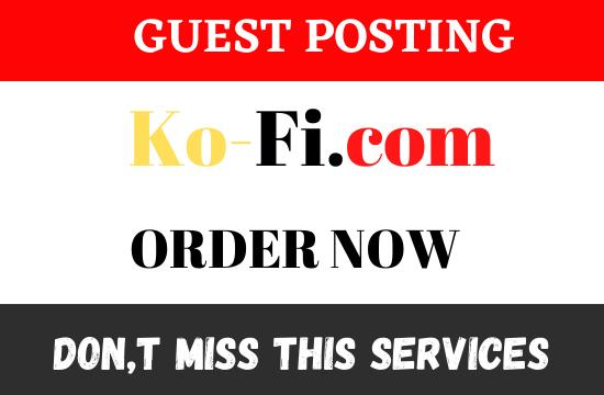 Publish DA71 Guest Post on Ko-Fi. com