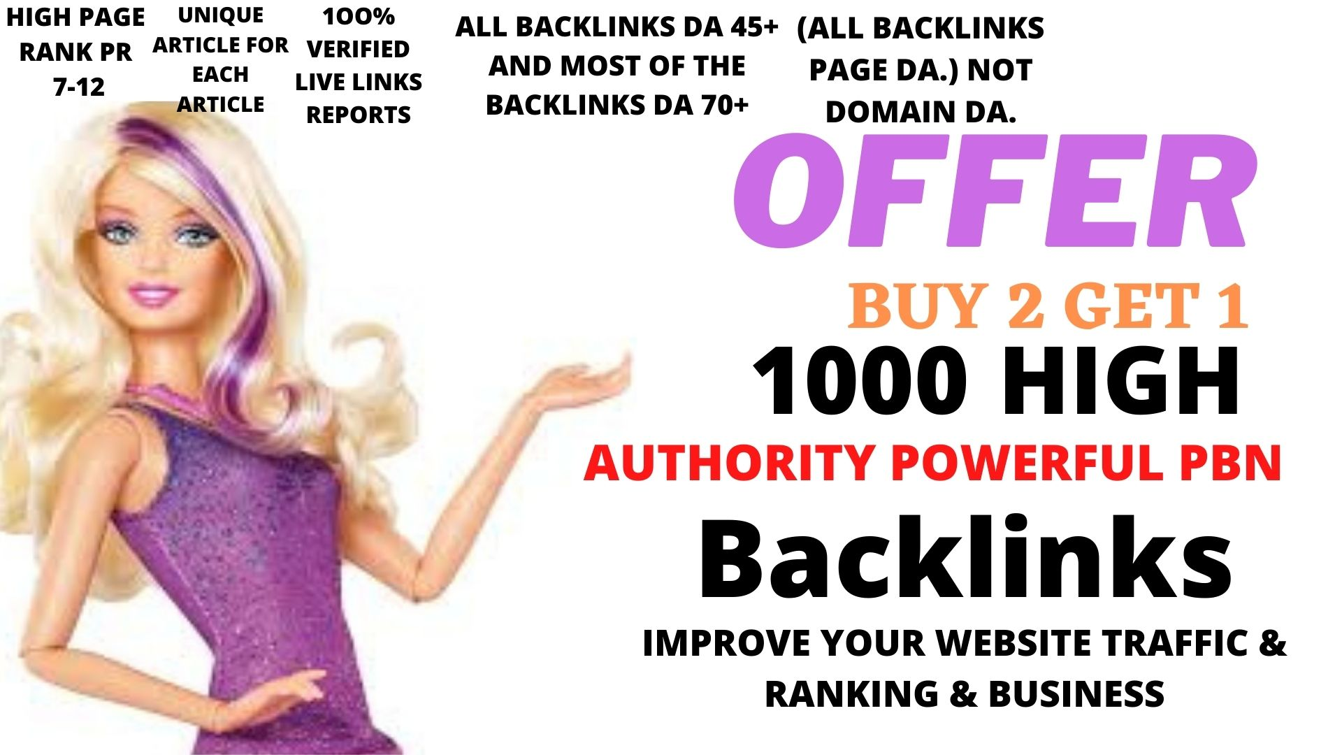 Build 1000 web 2.0 DA 45+Buy 2 get 1 Offer Dofollow backlink
