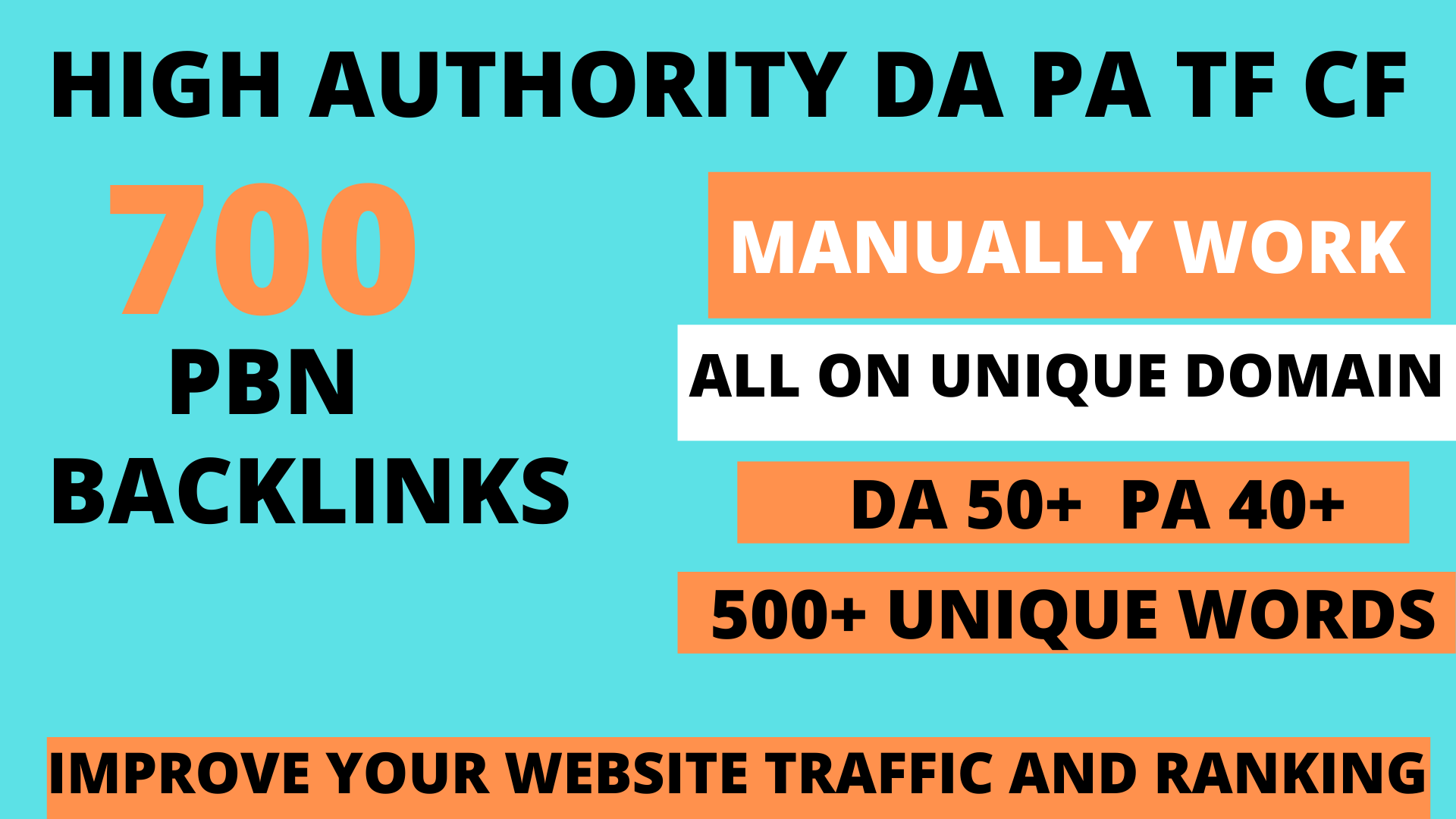 Build 700 web 2.0 DA 50+ PA 40+DR 50+ TF CF Permanent Dofollow backlink