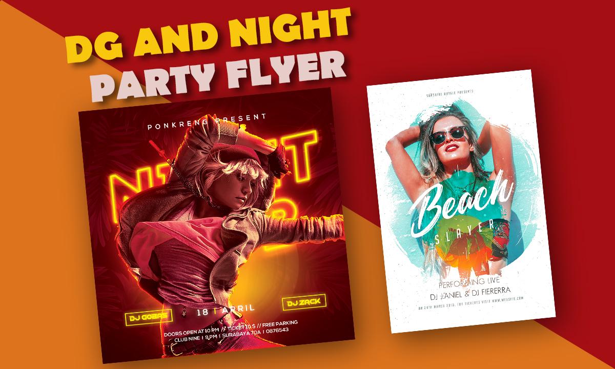I will do dj party,  disco,  concert,  church,  dj night club flyer design