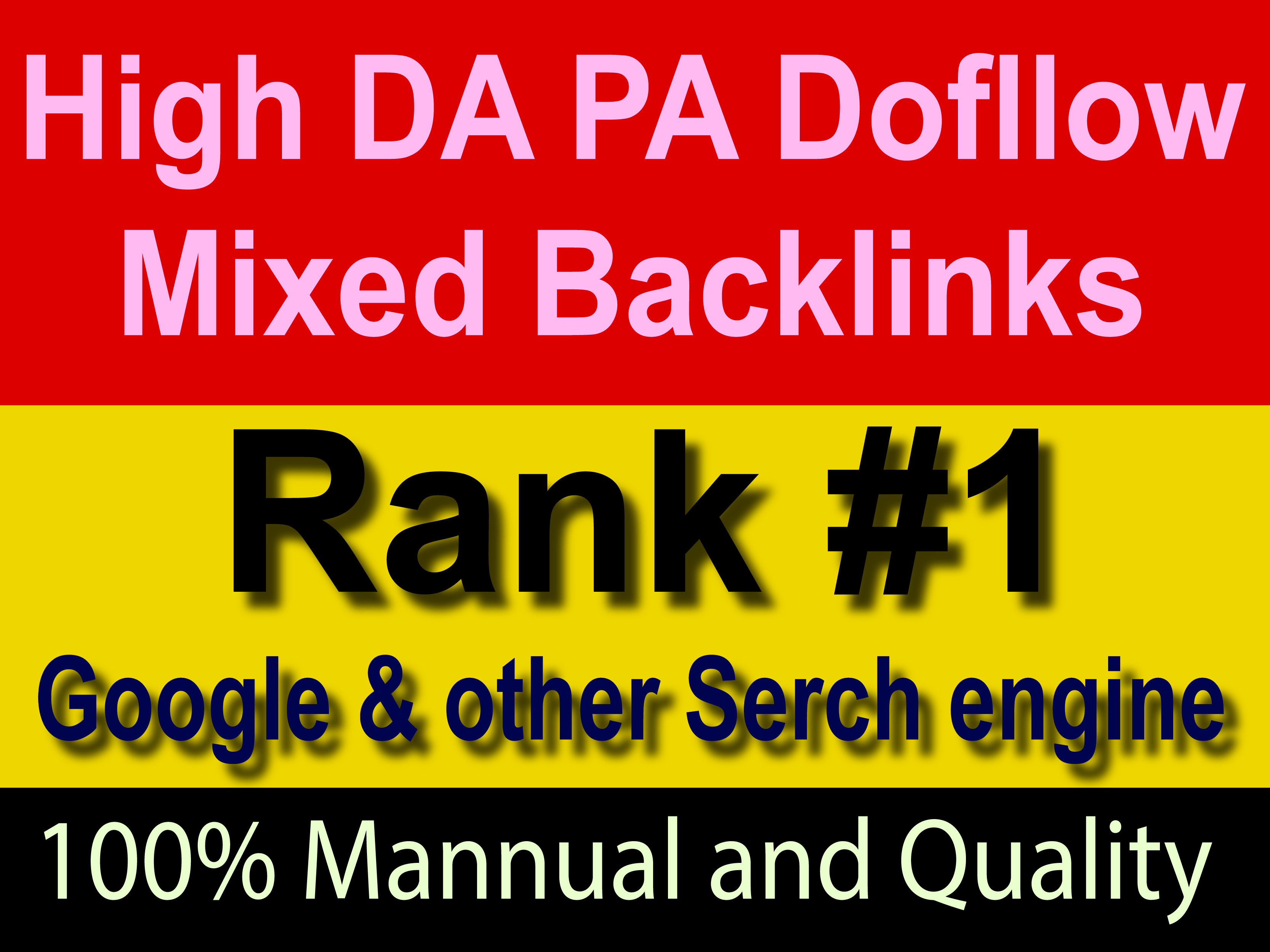 High Quality DA 60 Permanents Mixed Backlinks with rank & boost your website early grow.