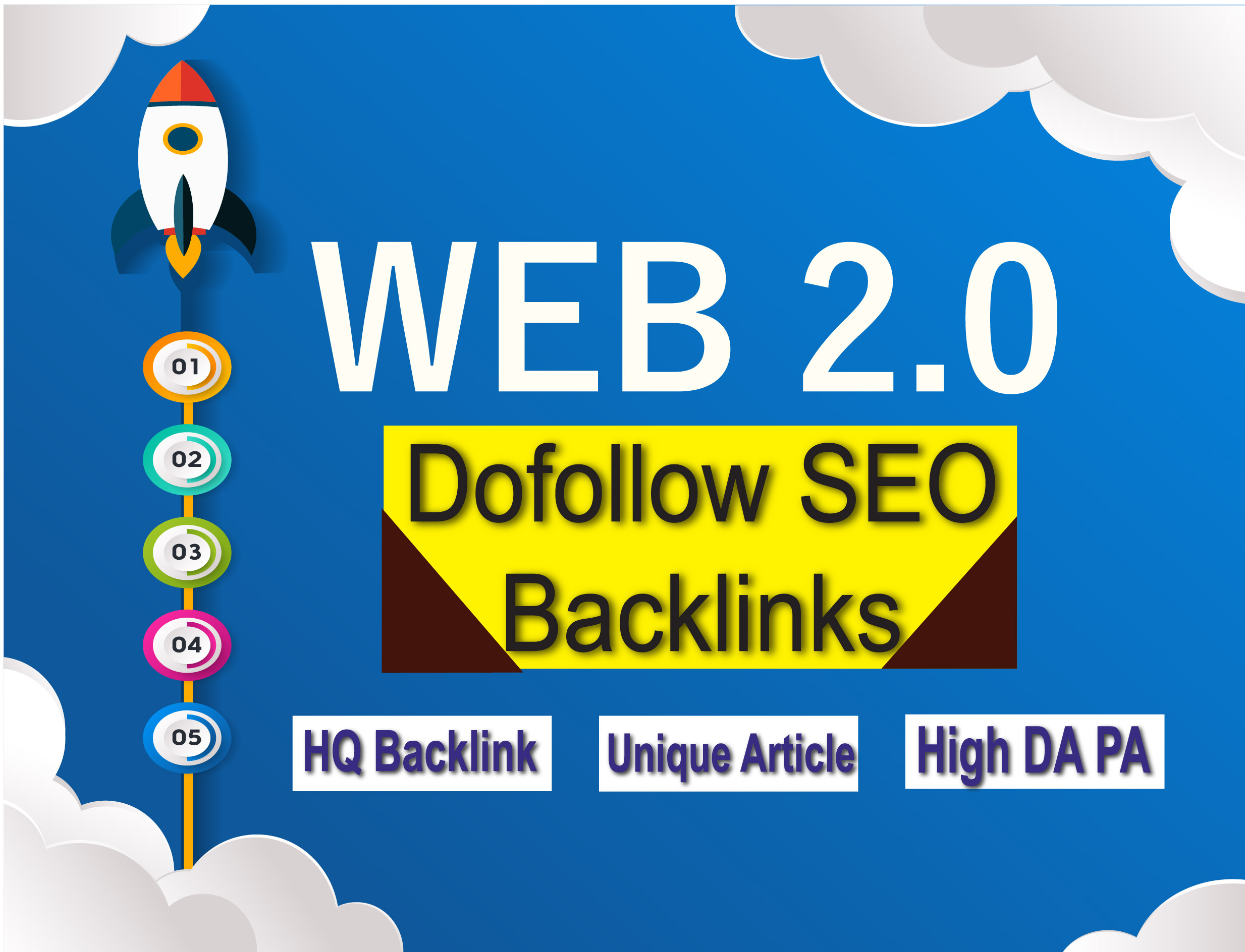 6 Web 2.0, HQ Backlink Permanent Post with Niche article increase rank your website quickly
