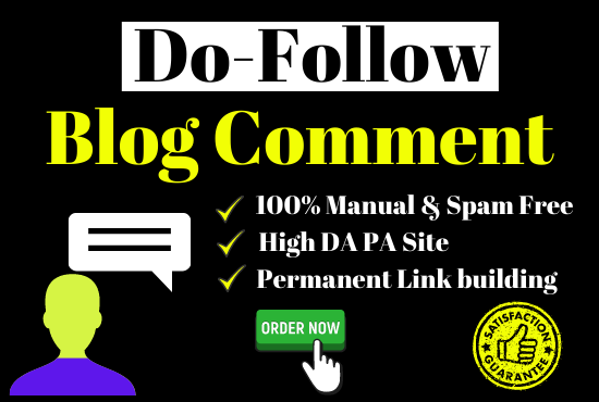 31 Unique & High Domain Authority Do-Follow Blog comment Permanent Link building
