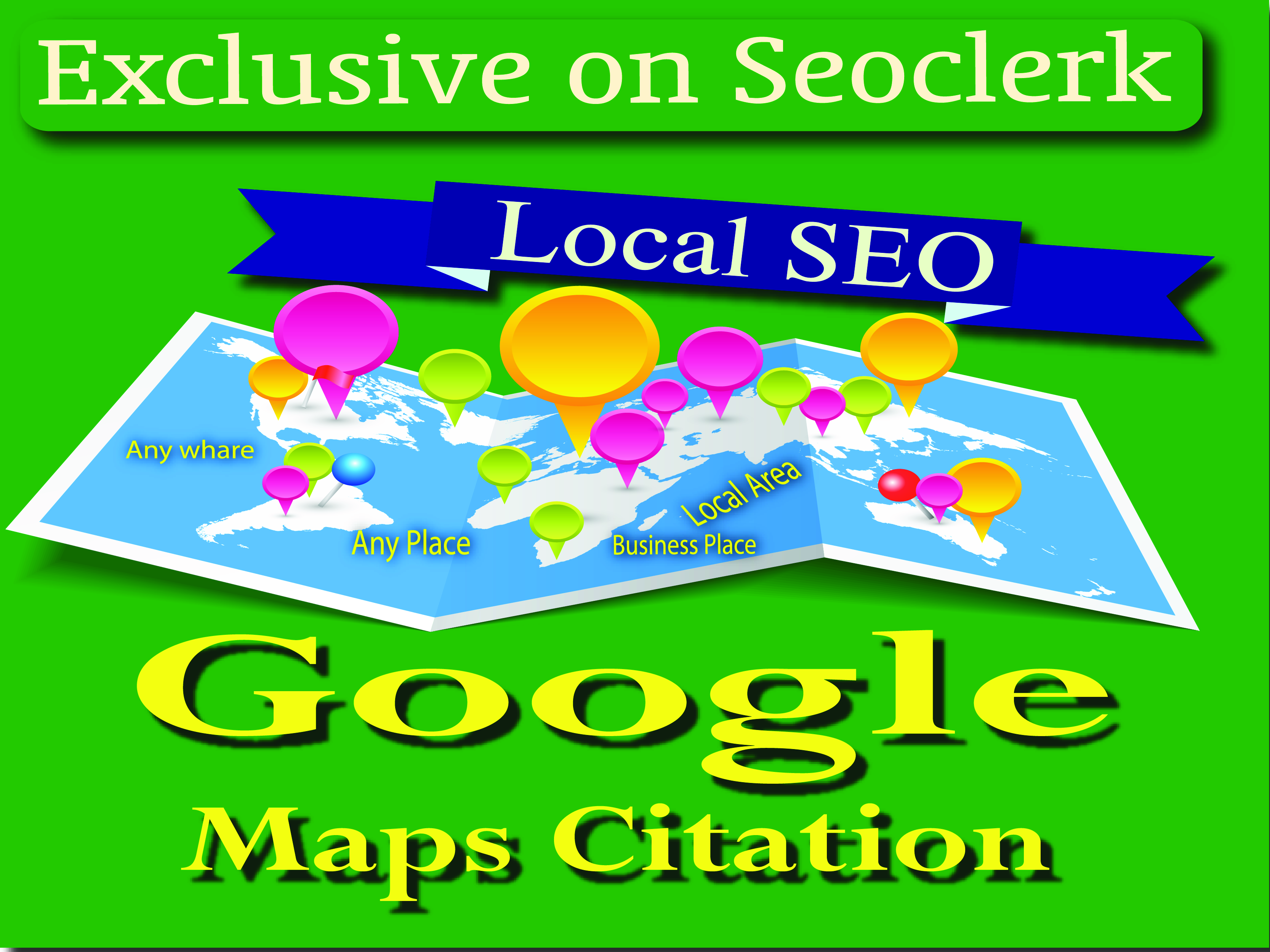 Great Service 125 Google Maps Citations manually,  Increase local SEO site & boost your Website