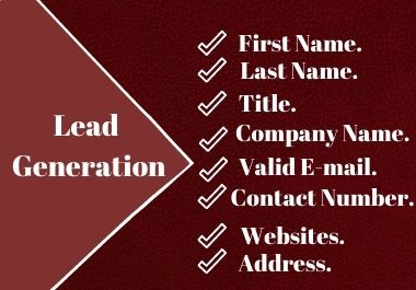 I will do prospective lead generation for your Business