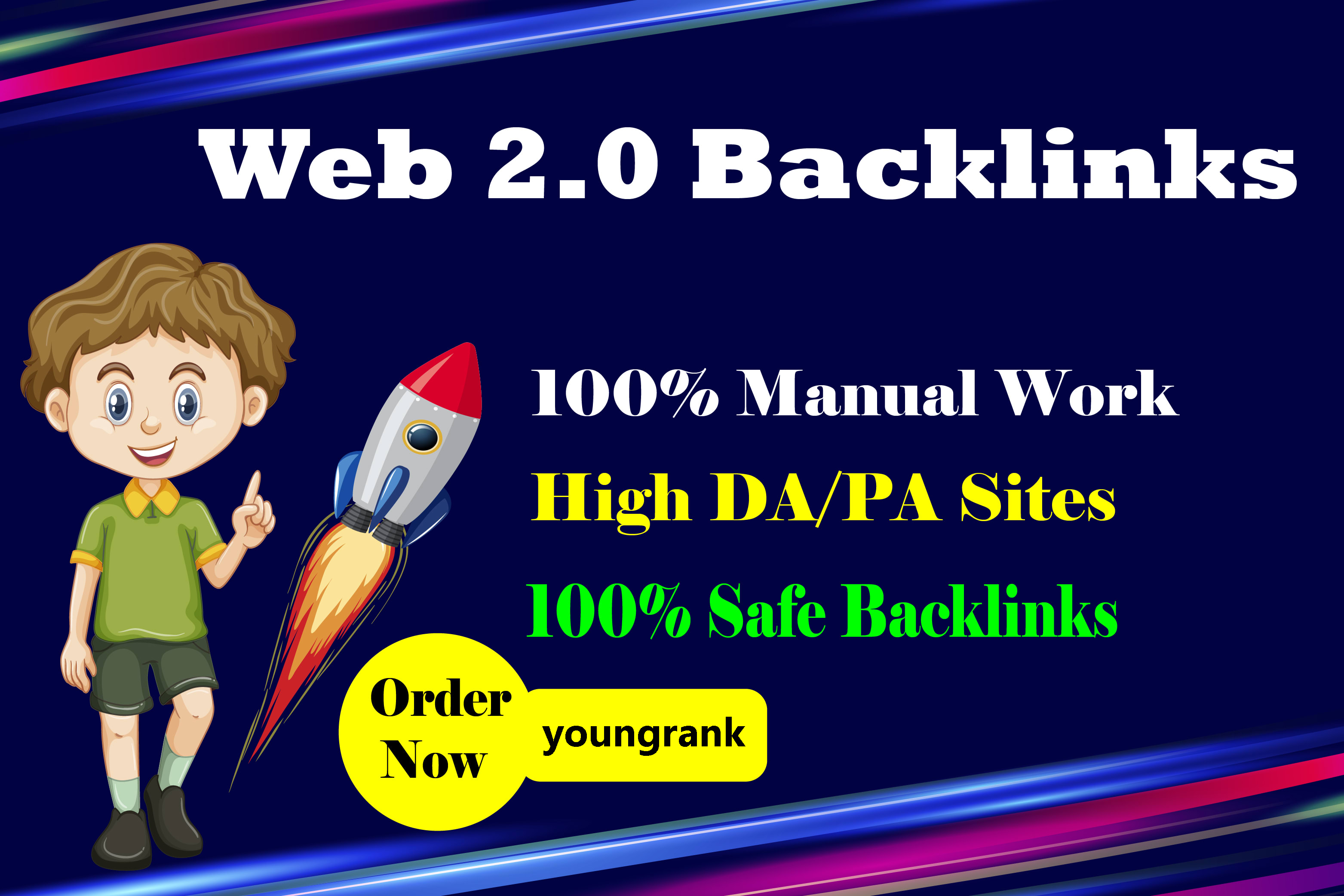 make 65 web 2.0 backlinks from high authority website with login information