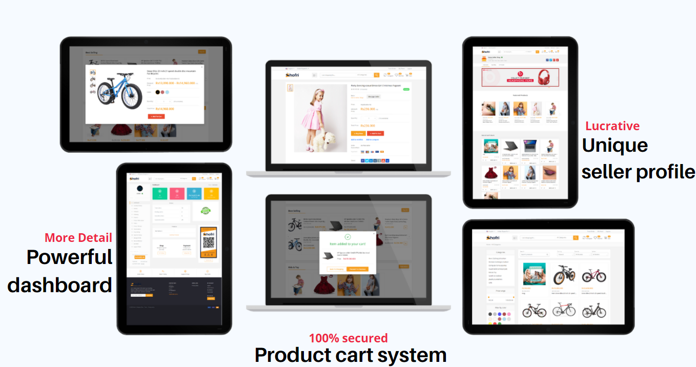 Get a complete multivendore ecomerce website