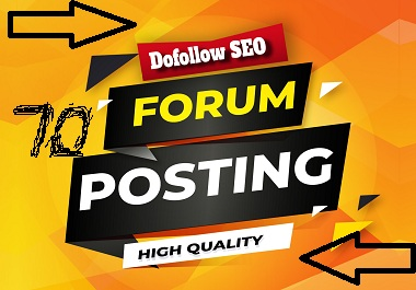 High Quality 50 manually High DA/PA forum posting