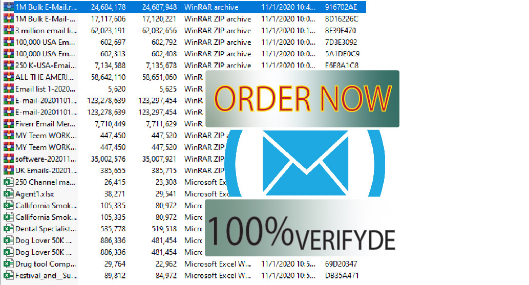 I will do targeted E-mail collection with 24 hours