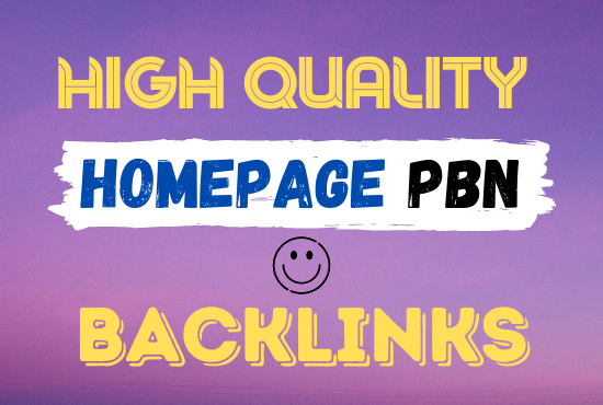 I Will build premium quality 50 homepage PBN backlinks DR 70 permanent and dofollow with unique ips