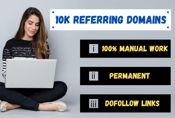 I Will Build Manually 10K Referring Domain For SEO Google Ranking