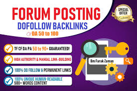 Manually Create 5 Forum Posts Strong SEO Link Building Service For your Boost Keyword Ranking