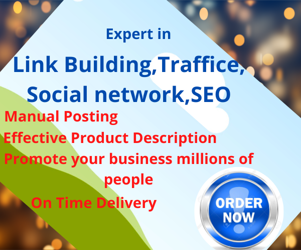 i will do organic promotion to bring USA traffic and link building