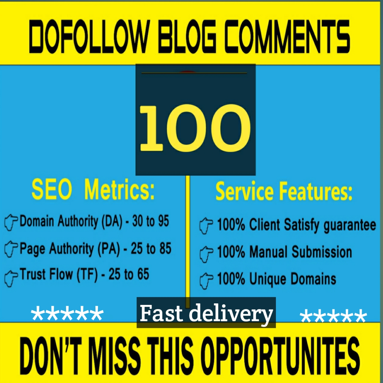 I will create for your website 100+ high quality Dofollow blog comments
