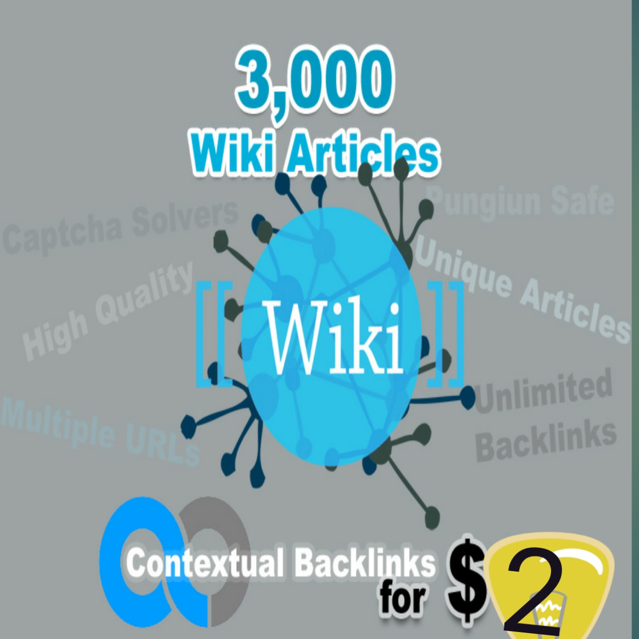 Here Rank your site Unlimited Wiki Backlinks from 3,000 Wiki Articles