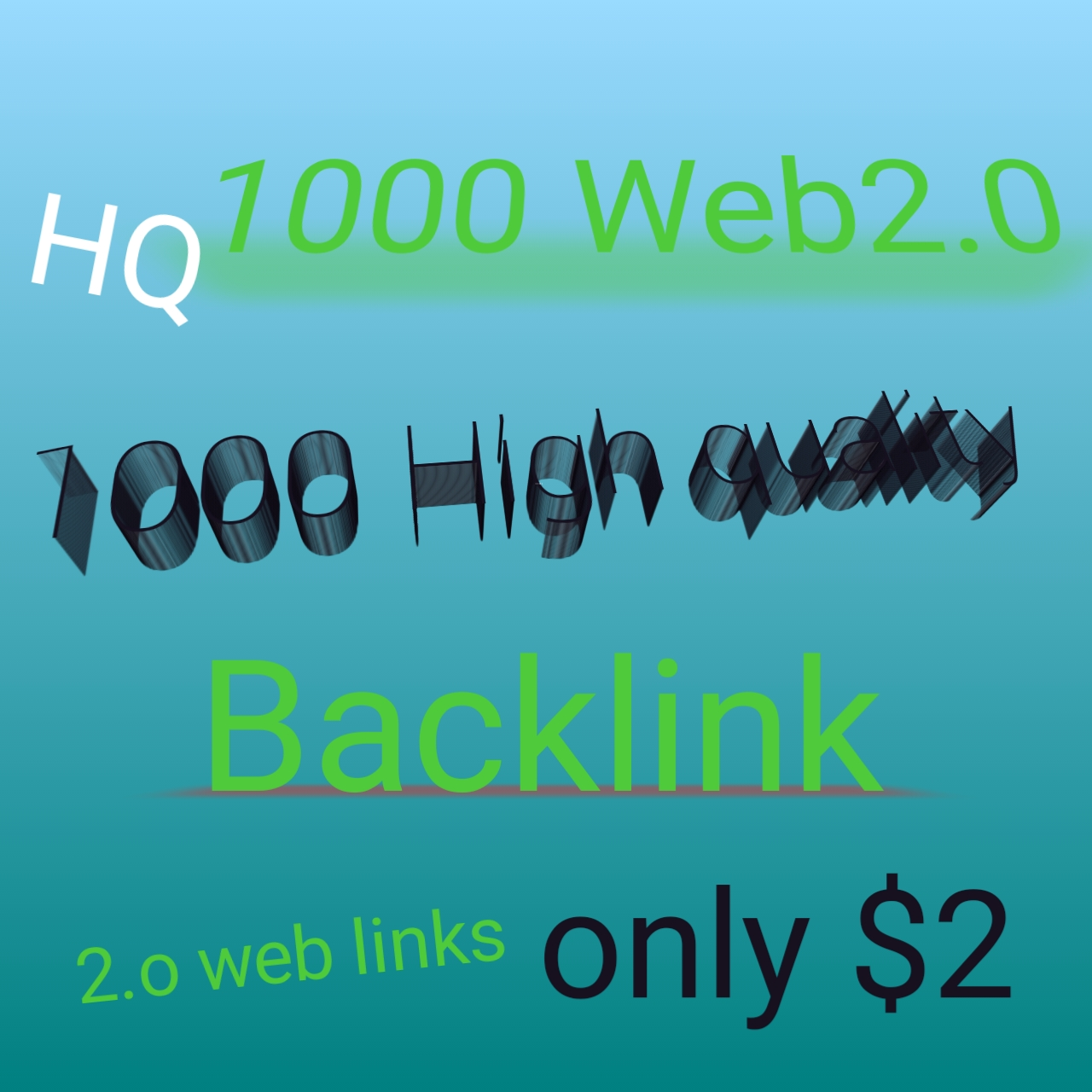 I will build 1,000 web 2.0 high quality backlinks for your keywords/links