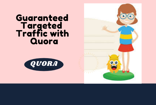 I will provide niche relevent traffic with 50 quora answers