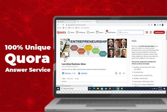 Promote Your Website Get Organic Niche relevent Traffic with 10 Quora Answer